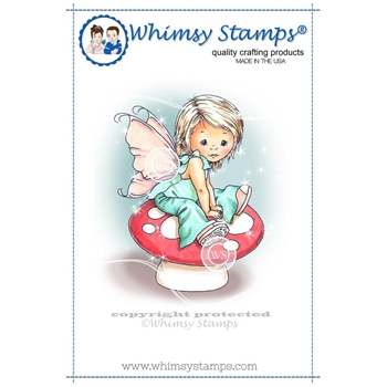 Whimsy Stamps YOUNG SPRING FAIRY Cling Stamp C1109