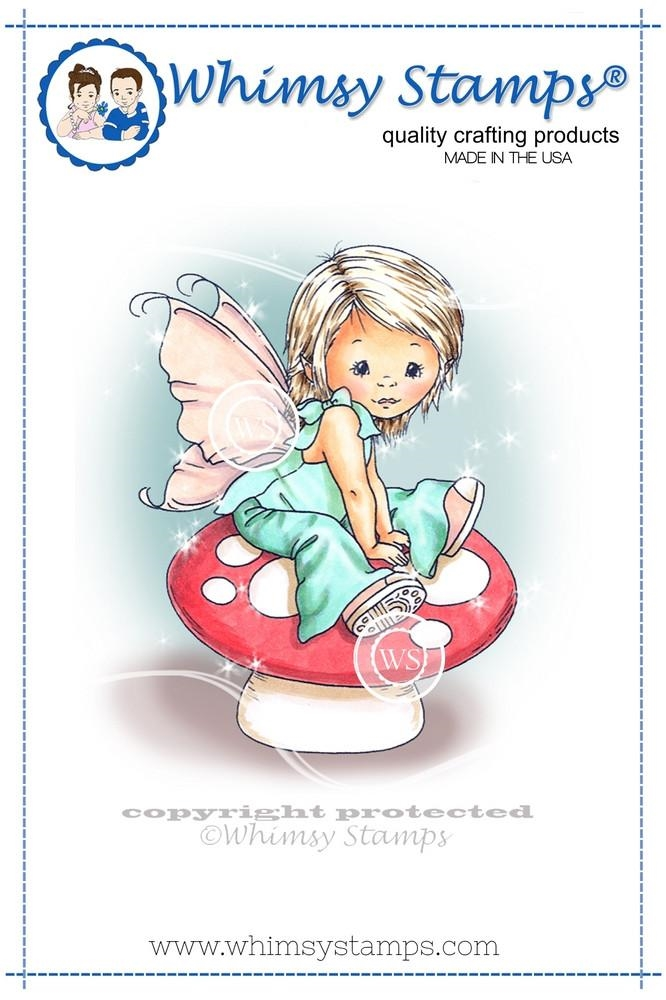 Whimsy Stamps YOUNG SPRING FAIRY Cling Stamp C1109 zoom image