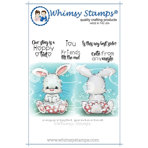 Whimsy Stamps CUTE FROM ANY ANGLE Cling Stamp C1332 Preview Image