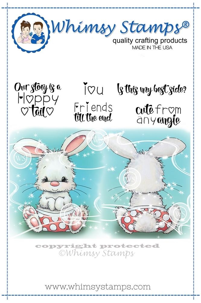 Whimsy Stamps CUTE FROM ANY ANGLE Cling Stamp C1332 zoom image