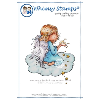Whimsy Stamps ANGEL CELESTE Cling Stamp MR128