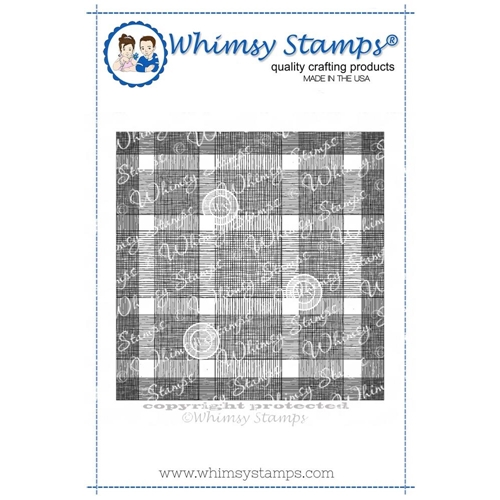 Whimsy Stamps BUFFALO PLAID BACKGROUND Cling Stamp DDB0018 Preview Image