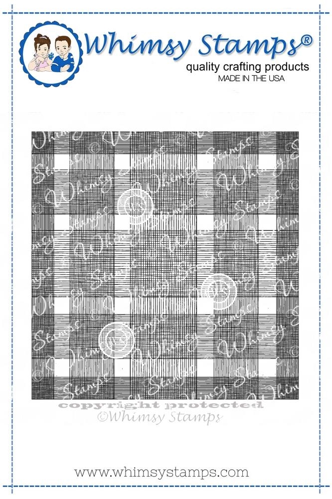 Whimsy Stamps BUFFALO PLAID BACKGROUND Cling Stamp DDB0018 zoom image