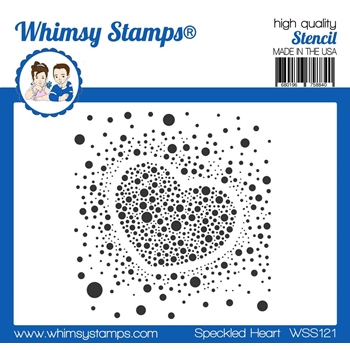 Whimsy Stamps SPECKLED HEART Stencil WSS121