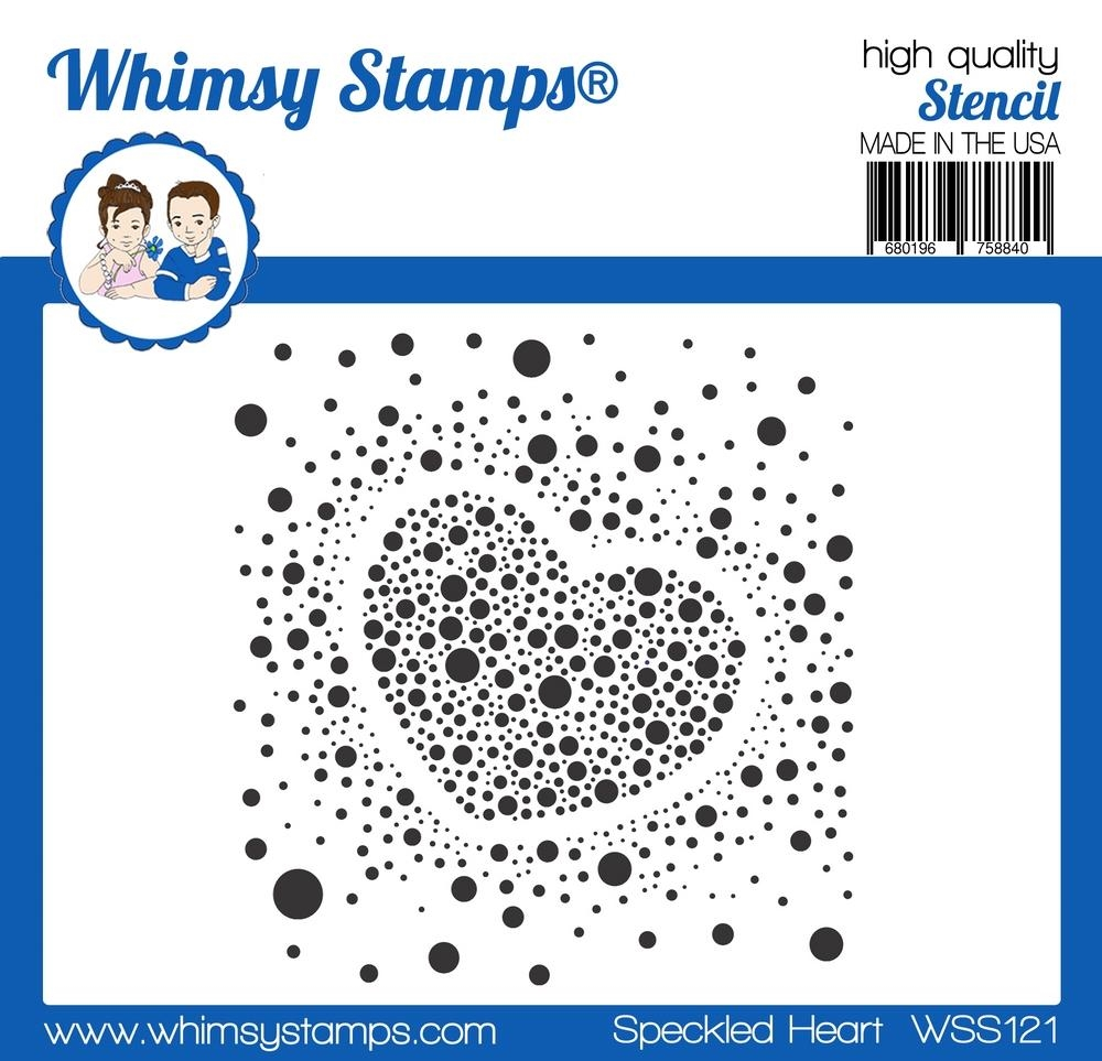 Whimsy Stamps SPECKLED HEART Stencil WSS121 zoom image