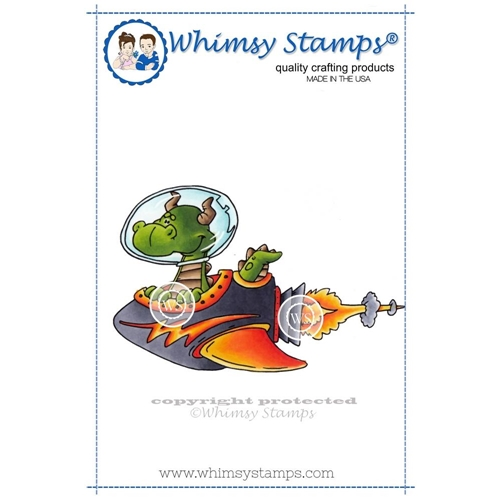 Whimsy Stamps SPACE DRAGON Cling Stamp DP1000 Preview Image