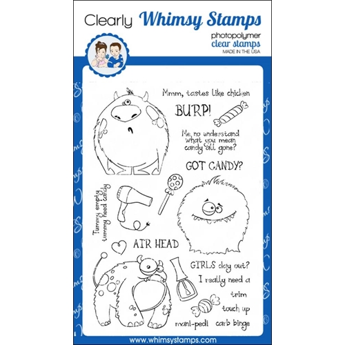 Whimsy Stamps KOOKY MONSTERS Clear Stamps CWSD215 Preview Image
