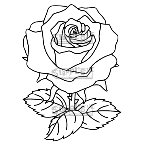 Stamplistic Cling Stamp THE ROSE j190101 Preview Image