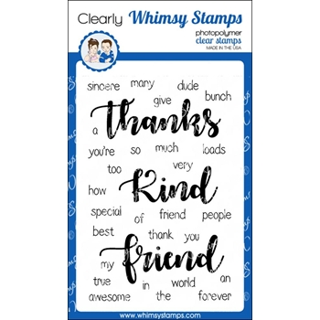Whimsy Stamps YOU'RE TOO KIND Clear Stamps CWSD222