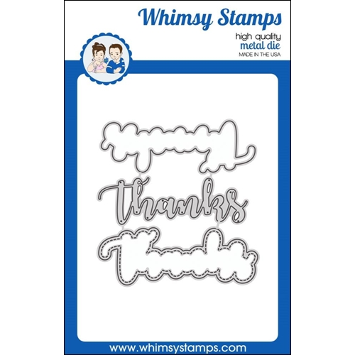 Whimsy Stamps THANKS WORD WITH SHADOW Dies WSD349 Preview Image