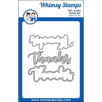 Whimsy Stamps THANKS WORD WITH SHADOW Dies WSD349