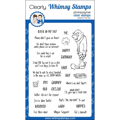 Whimsy Stamps OLD GEEZER Clear Stamps CWSD221 Preview Image