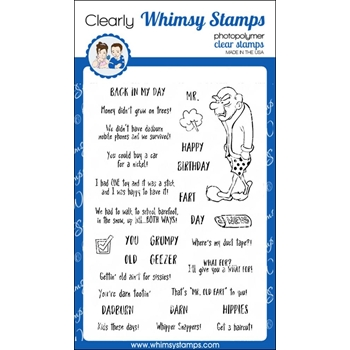 Whimsy Stamps OLD GEEZER Clear Stamps CWSD221