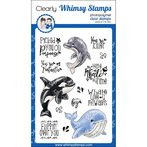 Whimsy Stamps WHALE OF A TIME Clear Stamps C1331 Preview Image