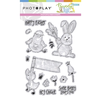 PhotoPlay BUNNY TRAIL Clear Stamps btl9234