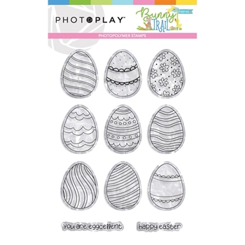 PhotoPlay BUNNY TRAIL EGGS Clear Stamps btl9236