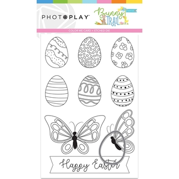 PhotoPlay BUNNY TRAIL Color Me Card And Die btl9237