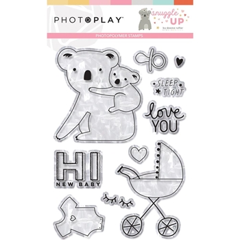 PhotoPlay SNUGGLE UP GIRL Clear Stamps sng9258