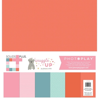 PhotoPlay SNUGGLE UP GIRL 12 x 12 Solids Plus Paper Pack sng9350