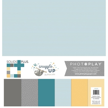 PhotoPlay SNUGGLE UP BOY 12 x 12 Solids Plus Paper Pack snb9346
