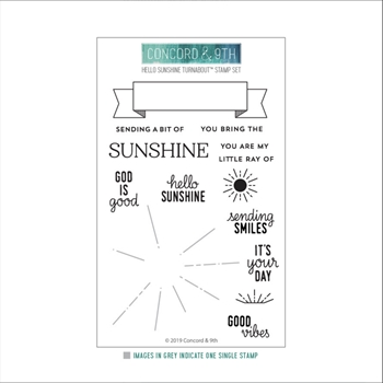 Concord & 9th HELLO SUNSHINE TURNABOUT Clear Stamp Set 10527