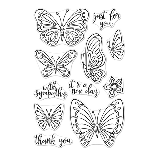 Hero Arts Clear Stamps NEW DAY BUTTERFLIES CM320 Preview Image