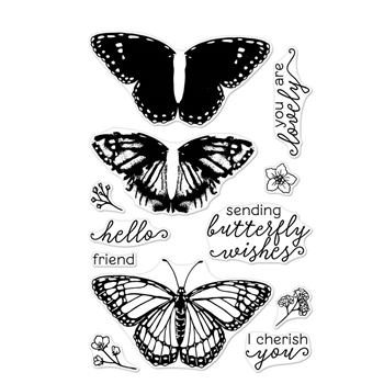 Hero Arts Clear Stamps Color Layering MONARCH BUTTERFLY CM331