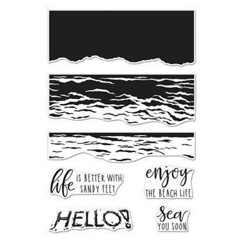 Hero Arts Clear Stamps Color Layering WAVES CM316