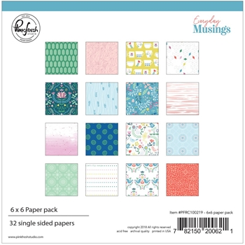 Pinkfresh Studio EVERYDAY MUSINGS 6 x 6 Paper Pack pfrc100219