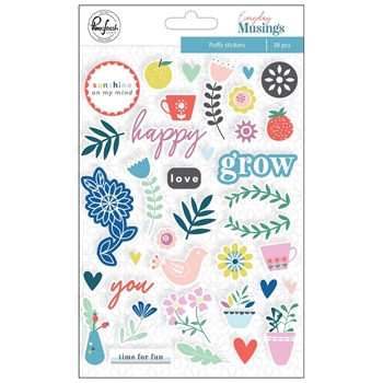 Pinkfresh Studio EVERYDAY MUSINGS Puffy Stickers pfrc100319