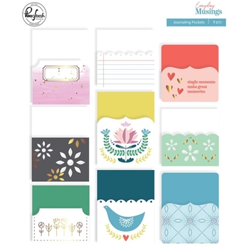 Pinkfresh Studio EVERYDAY MUSINGS Journaling Pockets pfrc100519