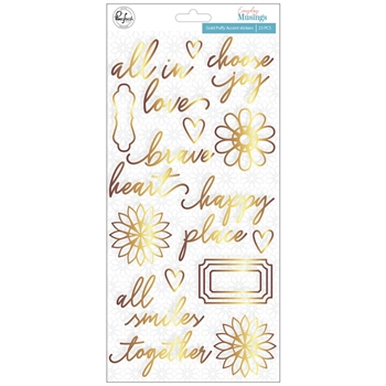 Pinkfresh Studio EVERYDAY MUSINGS Gold Puffy Accent Stickers pfrc100819
