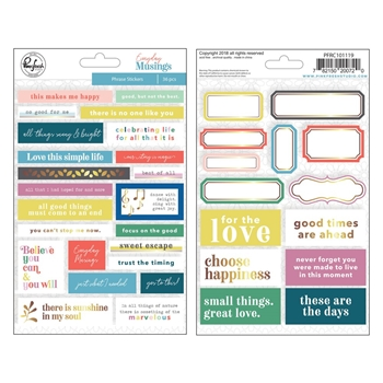 Pinkfresh Studio EVERYDAY MUSINGS Phrase Stickers pfrc101119