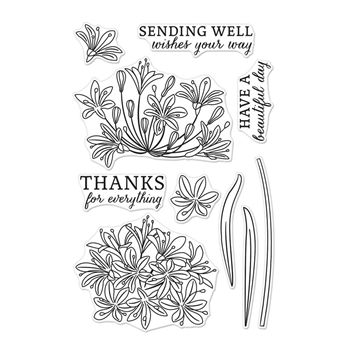 Hero Arts Clear Stamps BEAUTIFUL DAY AGAPANTHUS CM319