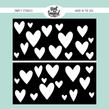 Neat and Tangled HEART DUO Stencil NAT453