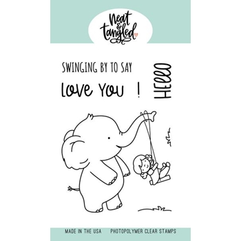 Neat and Tangled SWINGING BY Clear Stamps NAT451