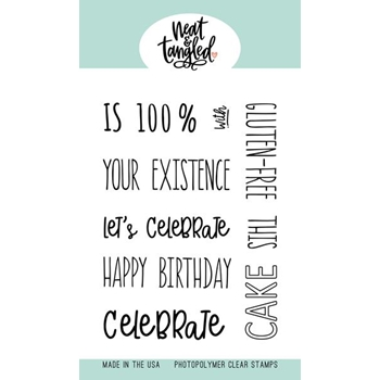 Neat and Tangled PIECE OF CAKE SENTIMENTS Clear Stamps NAT449