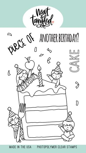 Neat and Tangled PIECE OF CAKE Clear Stamps NAT447 zoom image