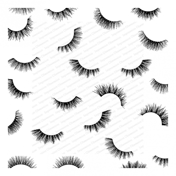 Impression Obsession Cling Stamp FLIRTY EYELASHES Cover A Card CC336