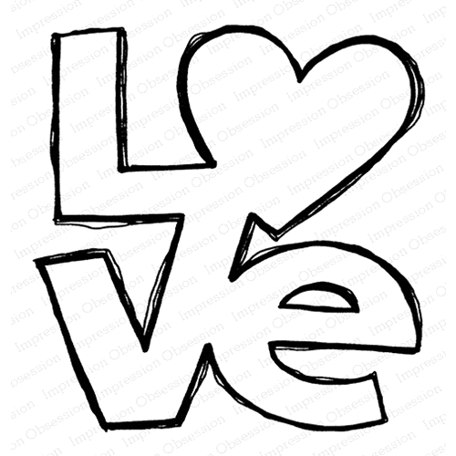 Impression Obsession Cling Stamp LOVE F21153 Preview Image