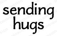 Impression Obsession Cling Stamp SENDING HUGS A13739 Preview Image