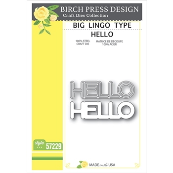 Birch Press Design BIG LINGO TYPE HELLO Craft Dies 57229