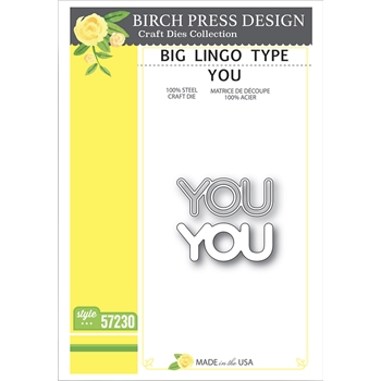 Birch Press Design BIG LINGO TYPE YOU Craft Dies 57230