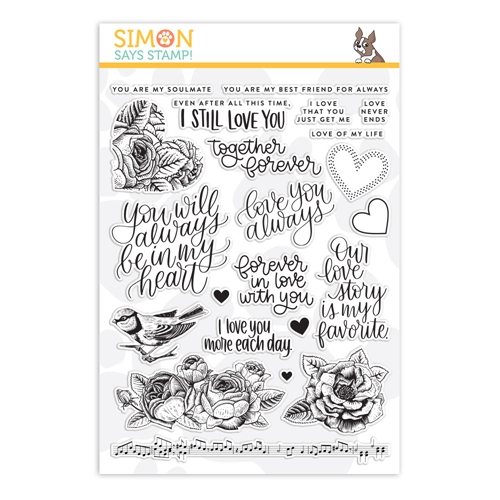 Simon's Exclusive Love Always Clear Stamp Set