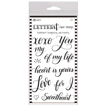 Ranger SWEETHEART Letter It Stamp Set lec65821