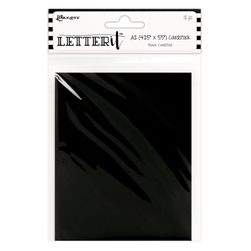 Ranger BLACK Letter It Cardstock Panels les63919 Preview Image