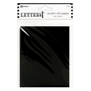 Ranger BLACK Letter It Cardstock Panels les63919