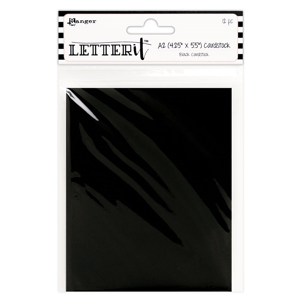 Ranger BLACK Letter It Cardstock Panels les63919 zoom image