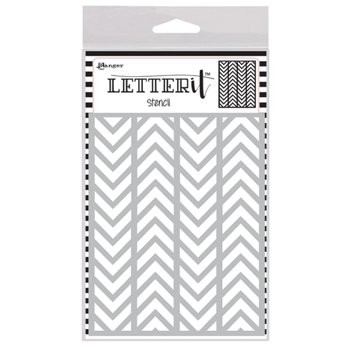 Ranger ALTERNATING CHEVRONS Letter It Stencil let63025 Preview Image