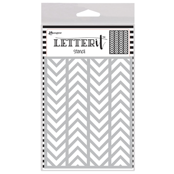 Ranger ALTERNATING CHEVRONS Letter It Stencil let63025